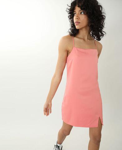 Satijnachtige jurk oranje - Pimkie