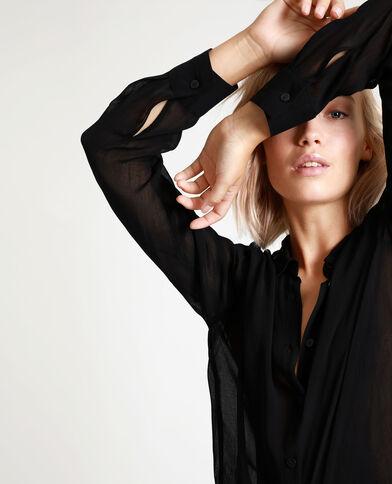 Lang hemd zwart