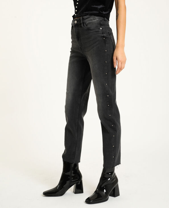 Straight-fit jeans zwart