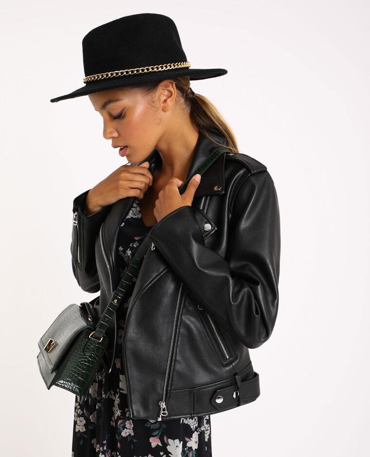 Wollen hoed zwart