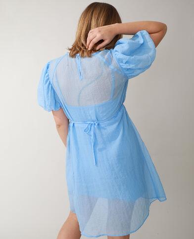 Gewafelde jurk blauw - Pimkie