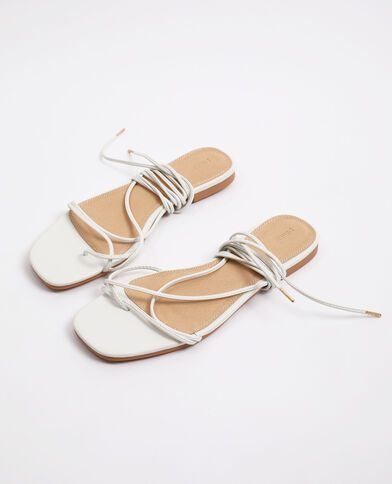 Sandalen met veters wit