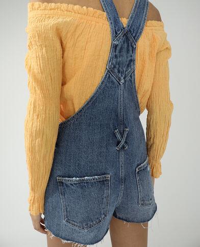 Korte jeanstuinbroek denimblauw - Pimkie
