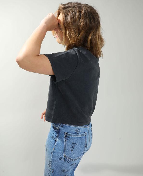 Cropped T-shirt Mickey antracietgrijs - Pimkie