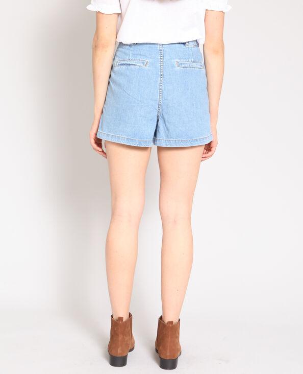 Short met hoge taille blauw