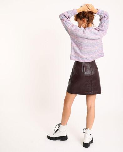 Jupe zippée faux cuir grenat