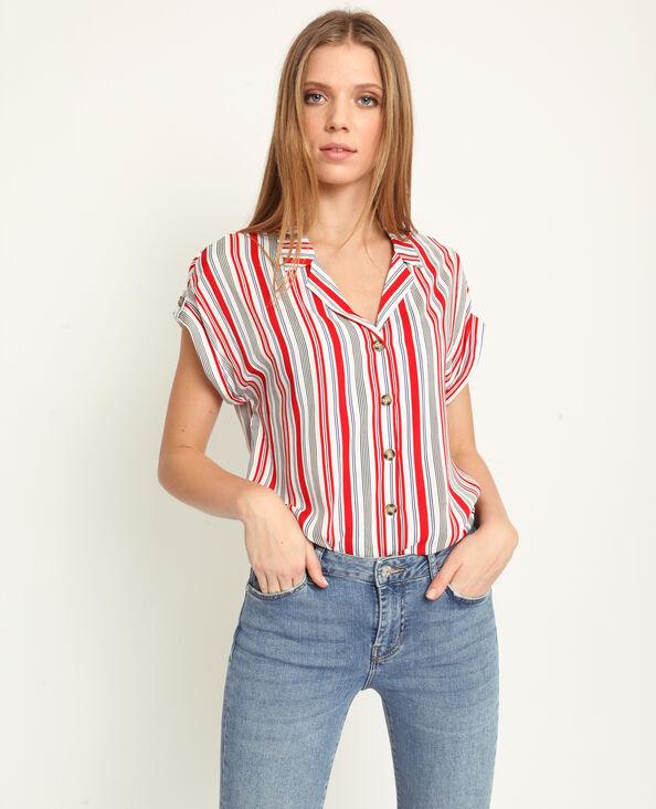 Bedrukte blouse wit