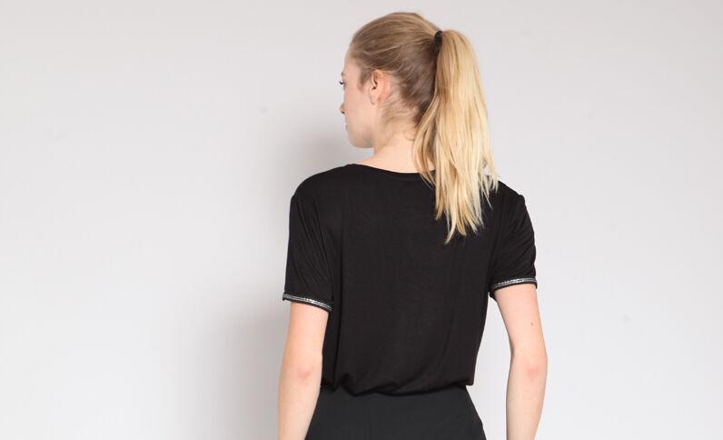 T-shirt met ronde hals zwart