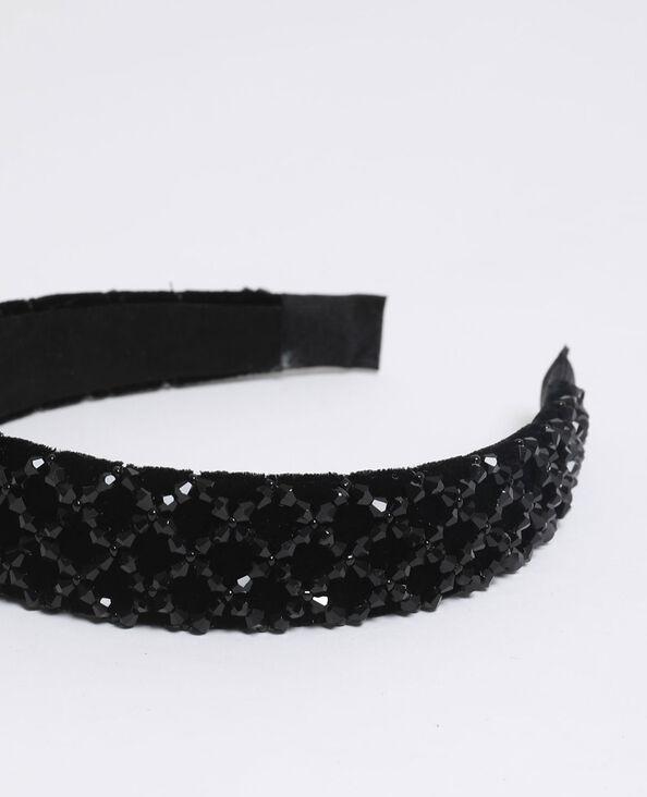 Diadeem met parels zwart