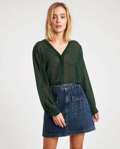 Doorschijnende blouse groen