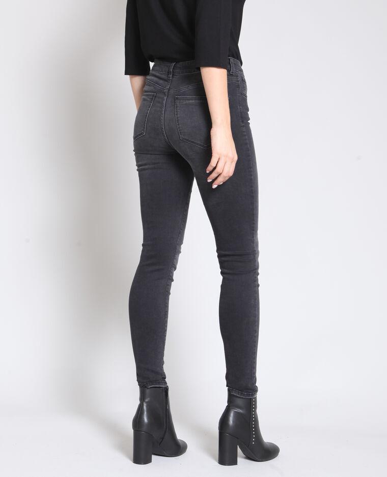 Jean skinny mid waist gris usé