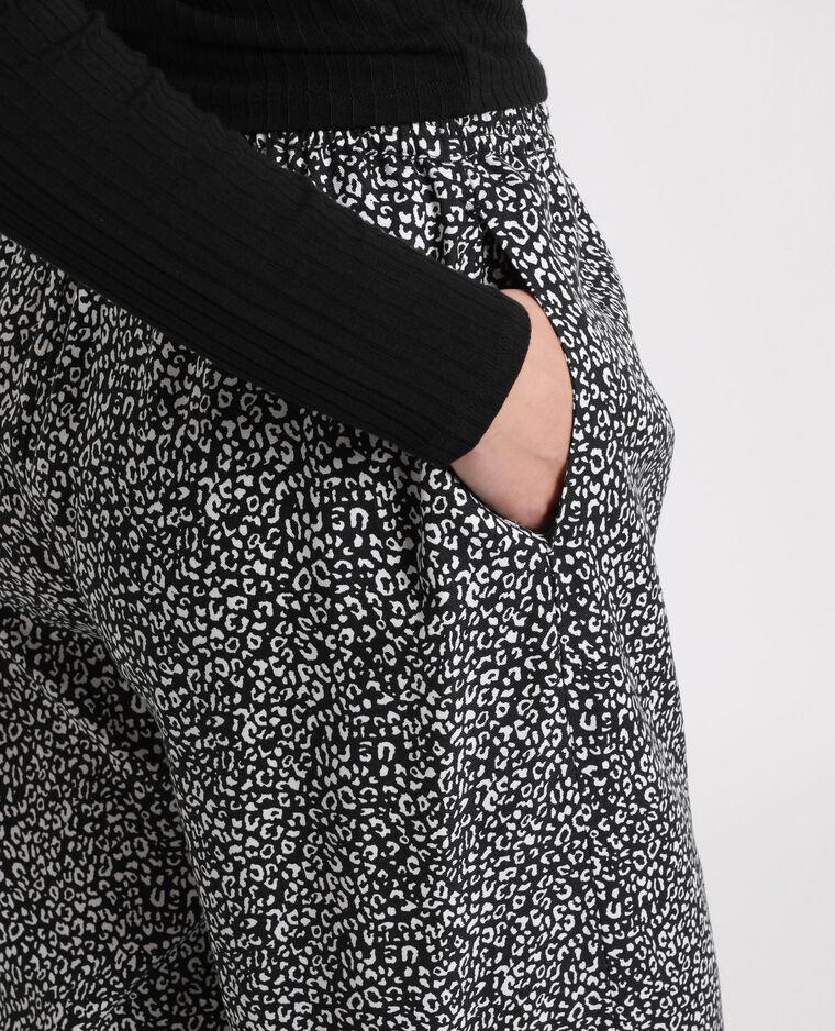 Pantalon fluide à imprimé blanc