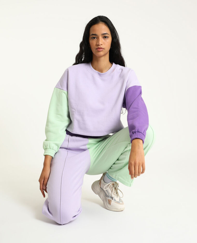 Cropped sweat violet