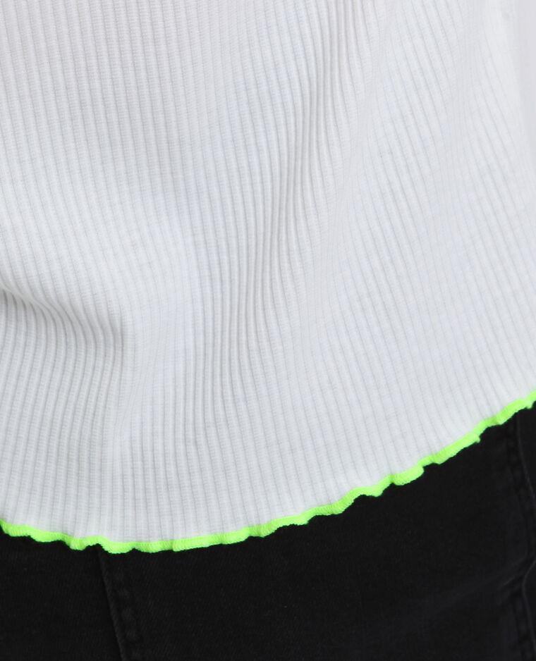 T-shirt côtelé blanc