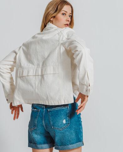 Jeansvest ecru