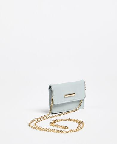 Porte-monnaie avec bandoulière bleu ciel