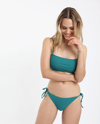 Bikinislip met strikken groen