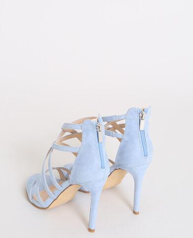 Sandalen met naaldhakken zeeblauw