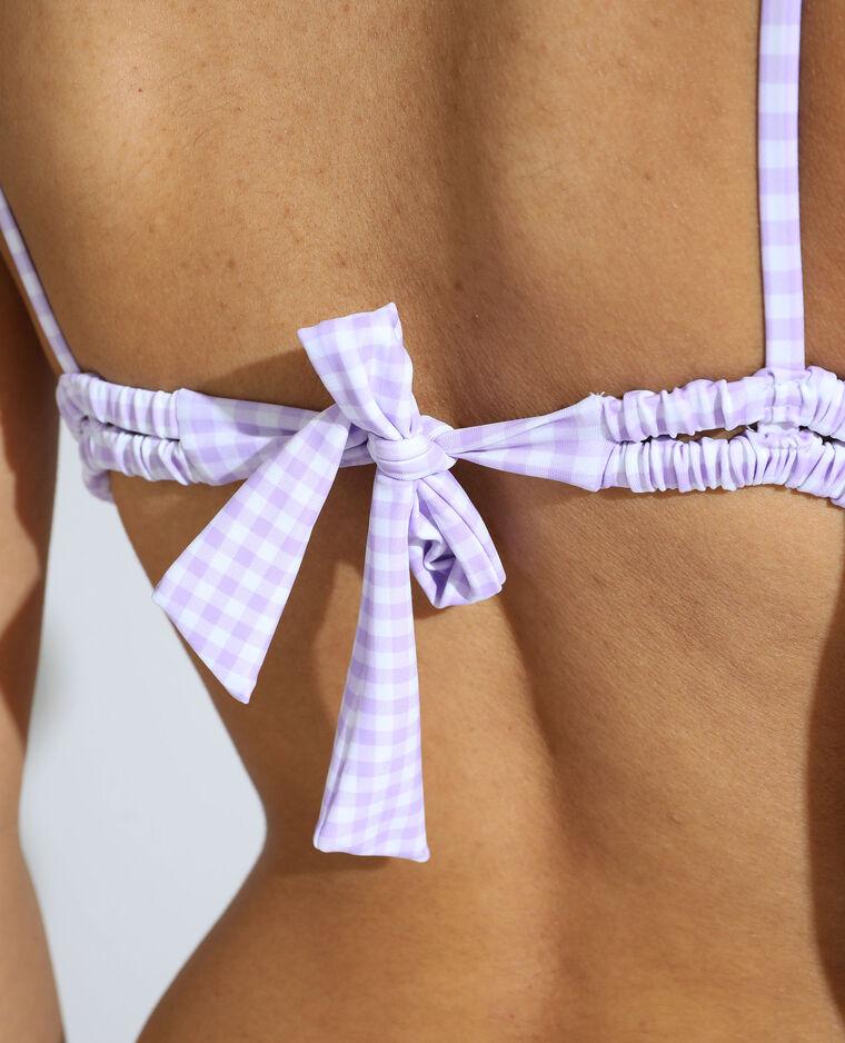 Haut de maillot triangle à carreaux violet - Pimkie