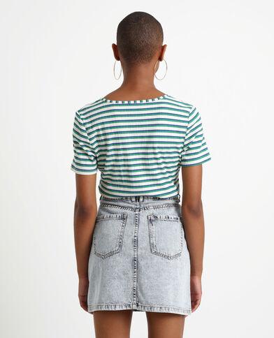 T-shirt à rayures bleu