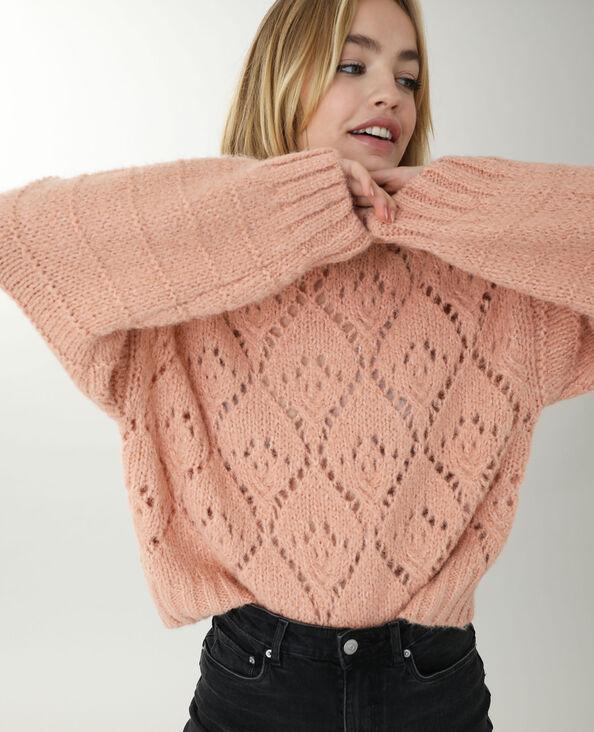 Opengewerkte trui roze - Pimkie