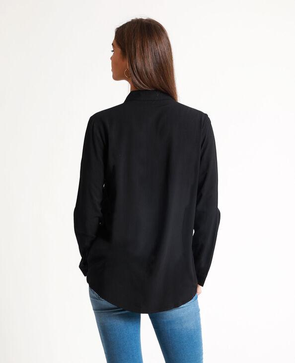 Hemd met knopen zwart