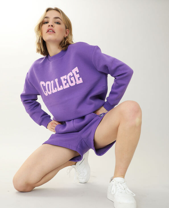 Sweat col rond violet