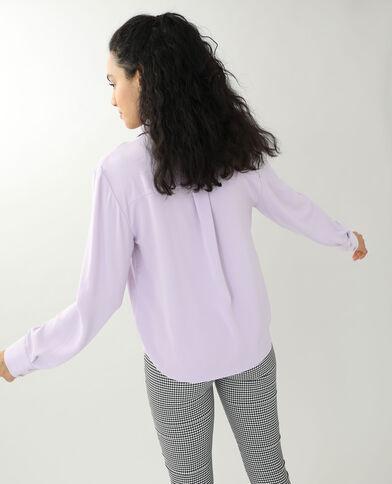 Soepelvallend hemd violet
