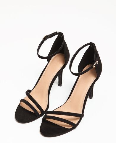 Sandalen met naaldhakken zwart