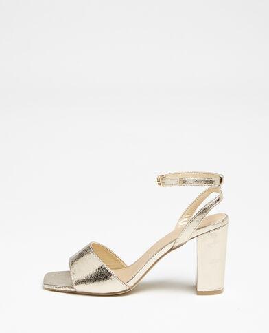 Sandales à bride doré