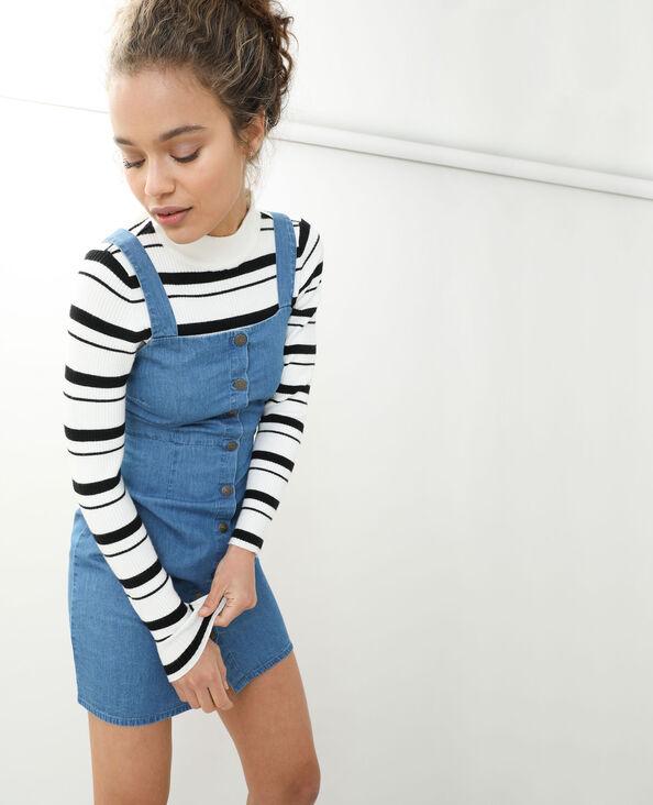 Robe salopette en jean bleu délavé - Pimkie