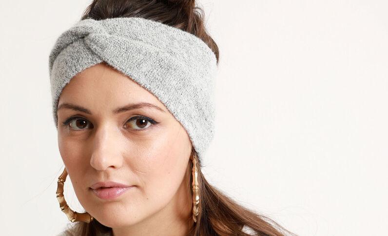 Haarband gemêleerd grijs
