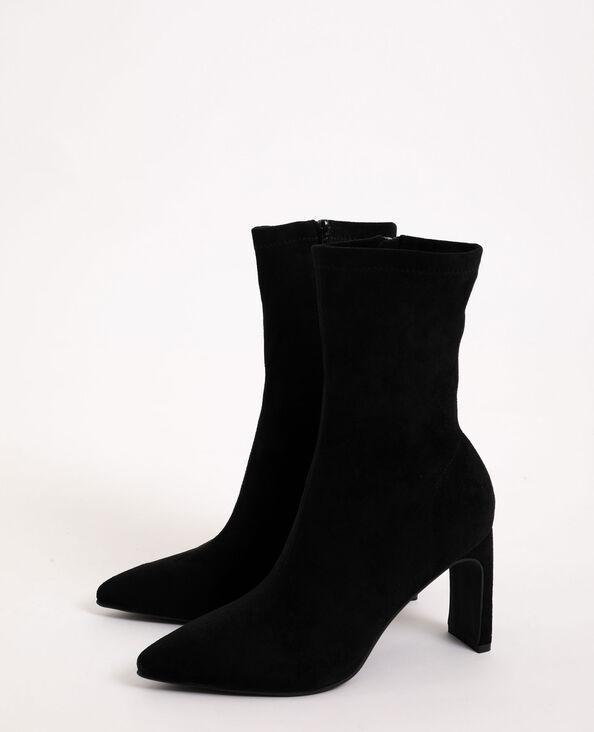 Laarzen van microvezel zwart