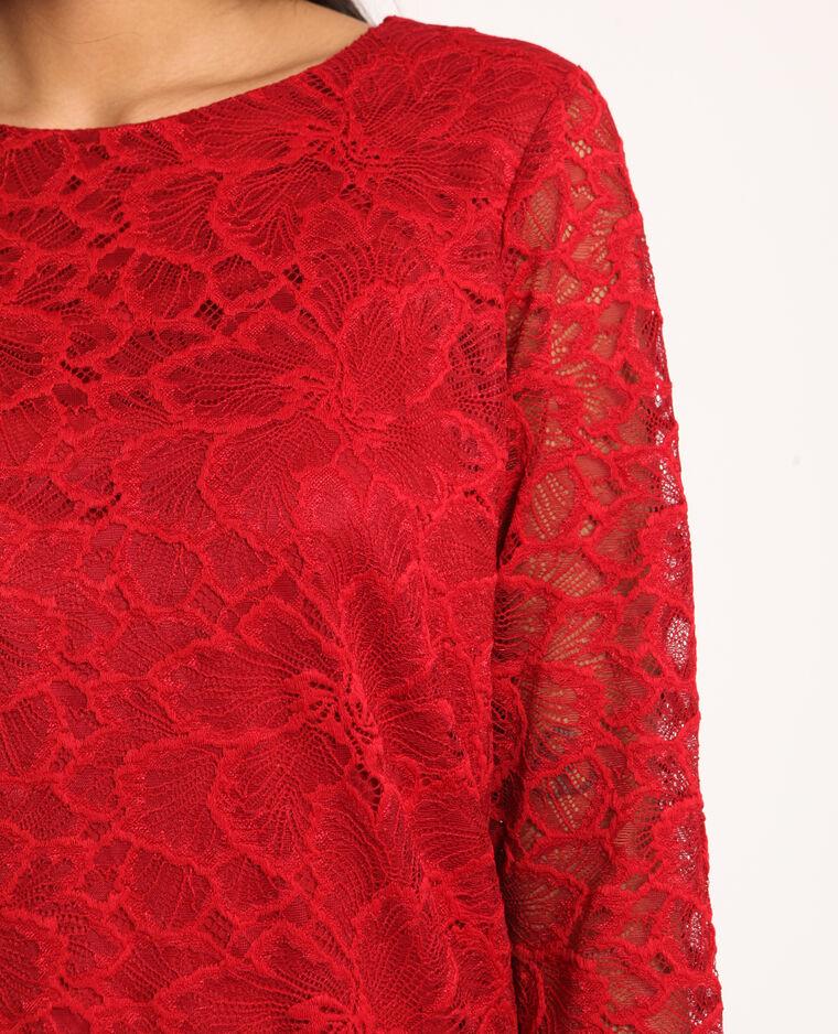 T-shirt en dentelle rouge