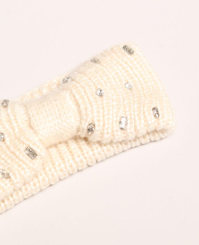 Haarband met glittersteentjes wit