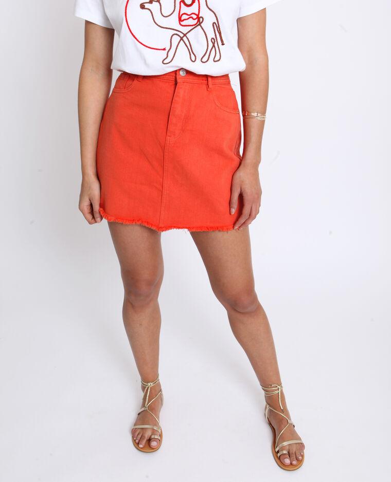 Jupe en jean orange