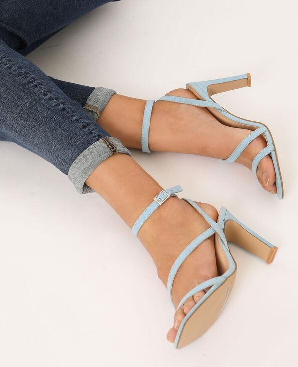 Sandalen met hakken hemelsblauw