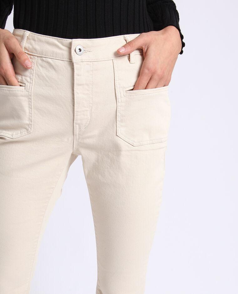 Pantalon flare blanc