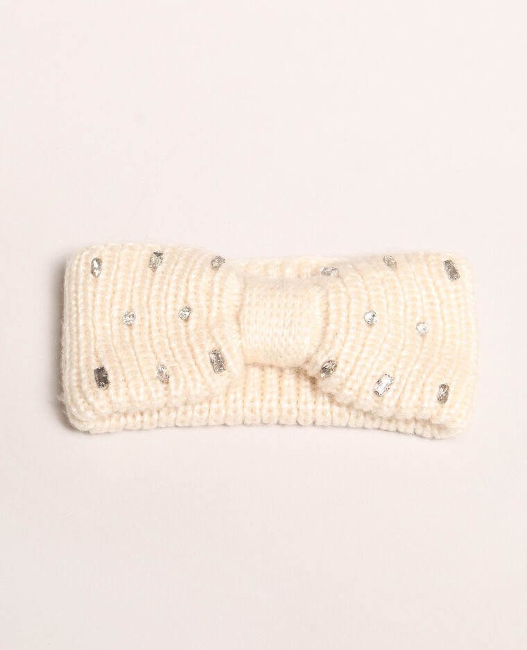 Headband à strass blanc