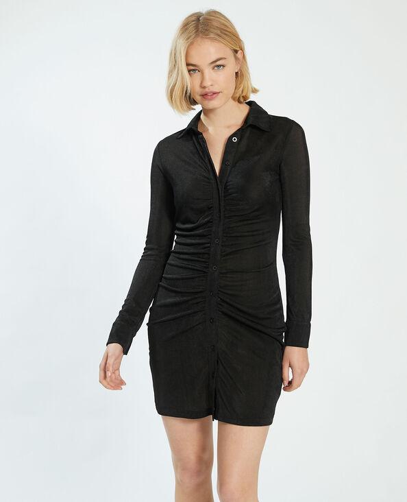 Robe froncée noir - Pimkie