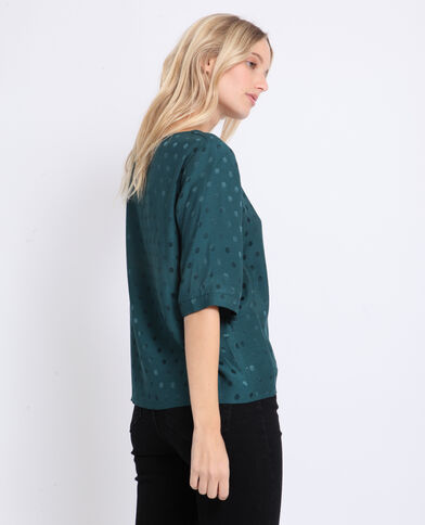 Satijnachtige blouse groen