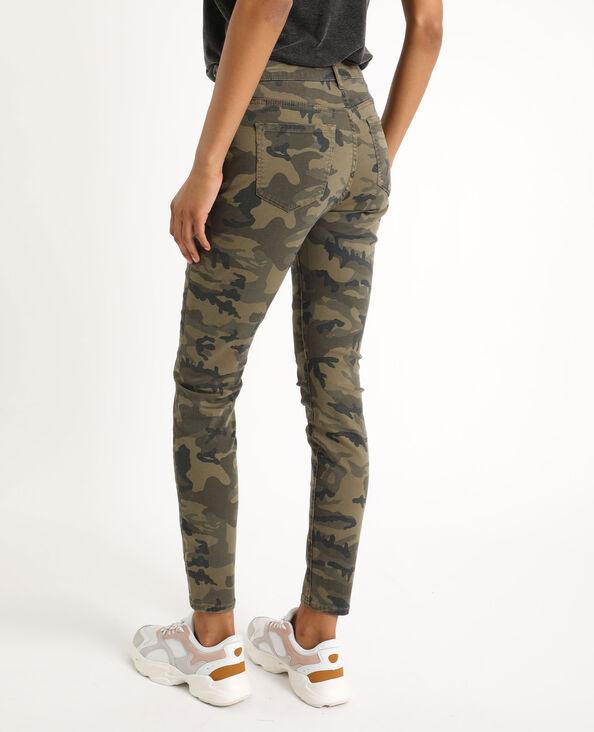 Pantalon skinny camouflage vert