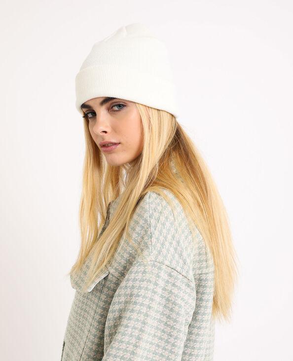 Bonnet en maille beige