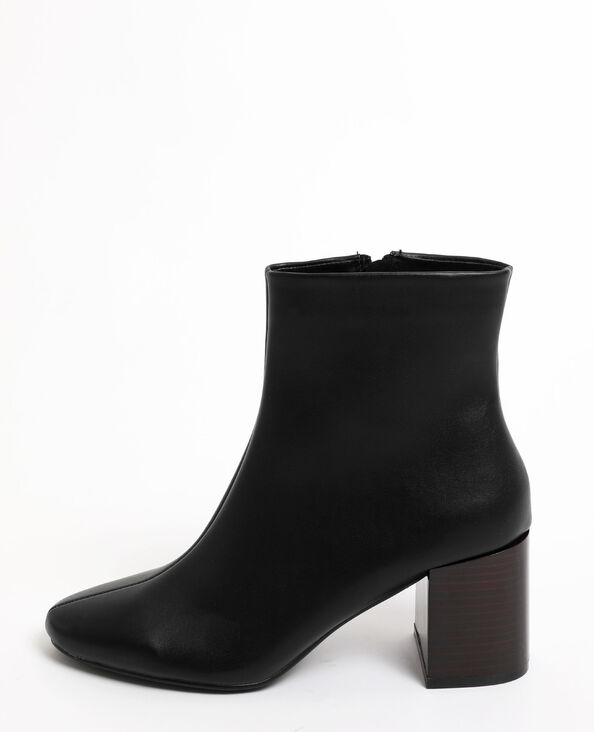 Bottines à talons noir