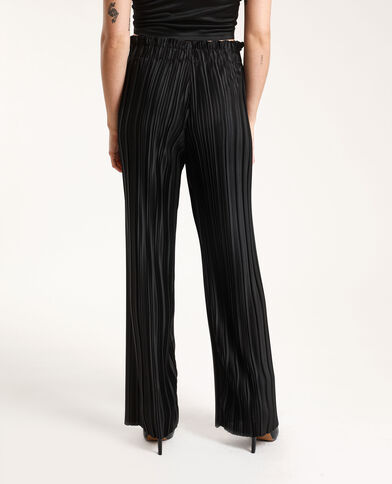 Geplooide broek zwart