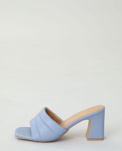 Mules à talons bleu aqua