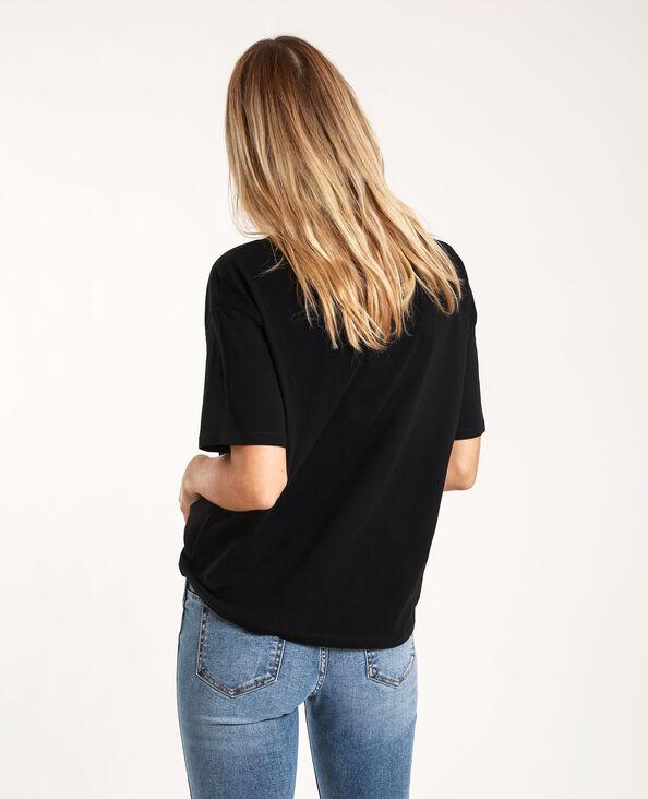 T-shirt à patch noir