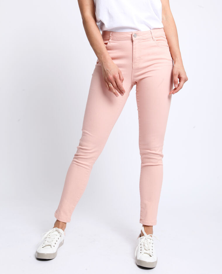 Pantalon push up mid waist rose
