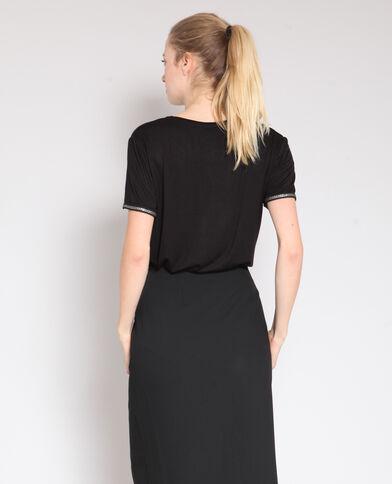 T-shirt à col rond noir