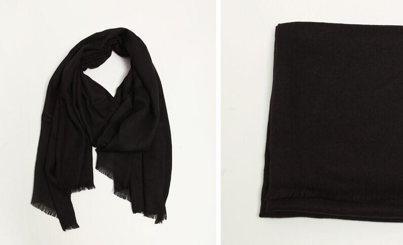 Zwarte omslagdoek zwart